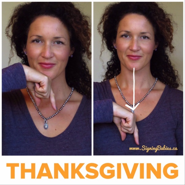 How to sign THANKSGIVING in American Sign Language  www.growingsigns.com