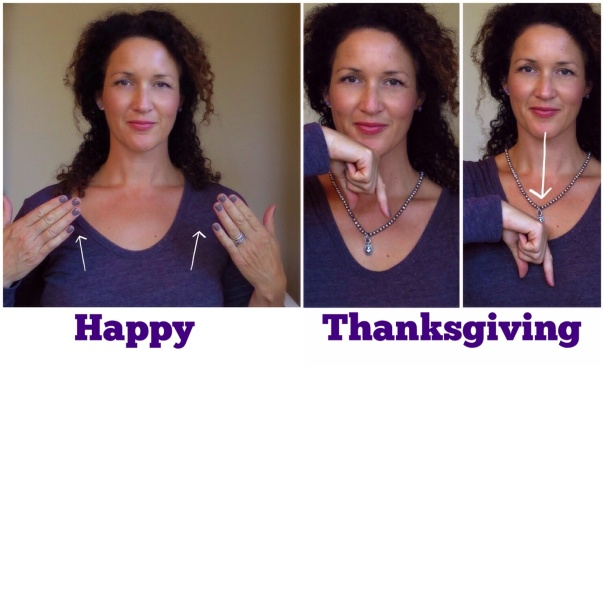 How to sign HAPPY THANKSGIVING -www.growingsigns.com