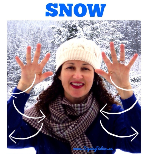 How to sign SNOW in American Sign Language --www.SigningBabies.ca
