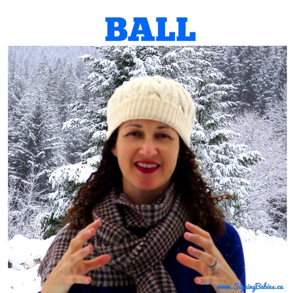 How to sign BALL in American Sign Language --www.SigningBabaies.ca