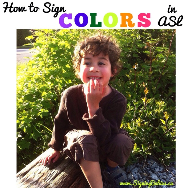 How to Sign COLORS in American Sign Language by www.SigningBabies.ca