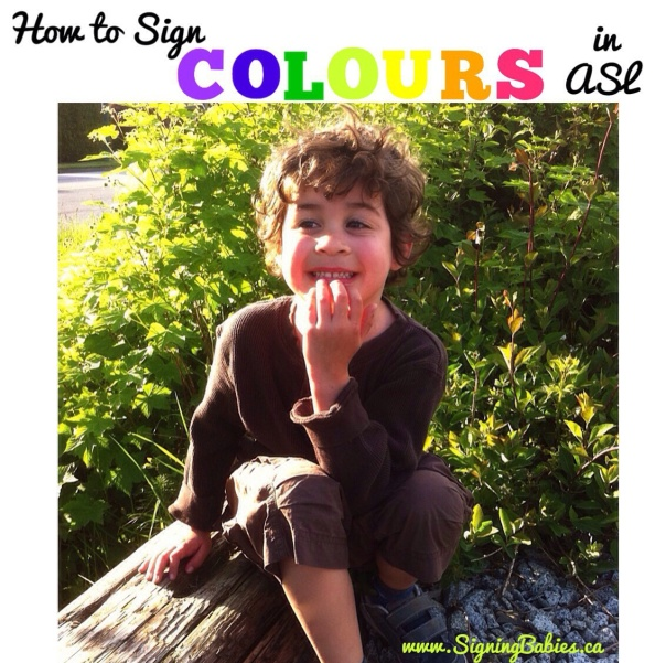 How to Sign COLOURS in American Sign Language by www.SigningBabies.ca