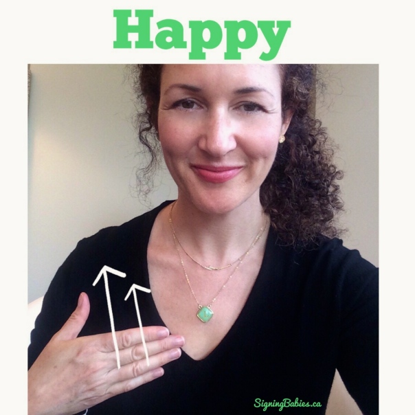 How to Sign HAPPY in American Sign Language: www.growingsigns.com