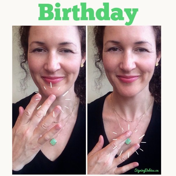 How to Sign BIRTHDAY in American Sign Language: www.growingsigns.com