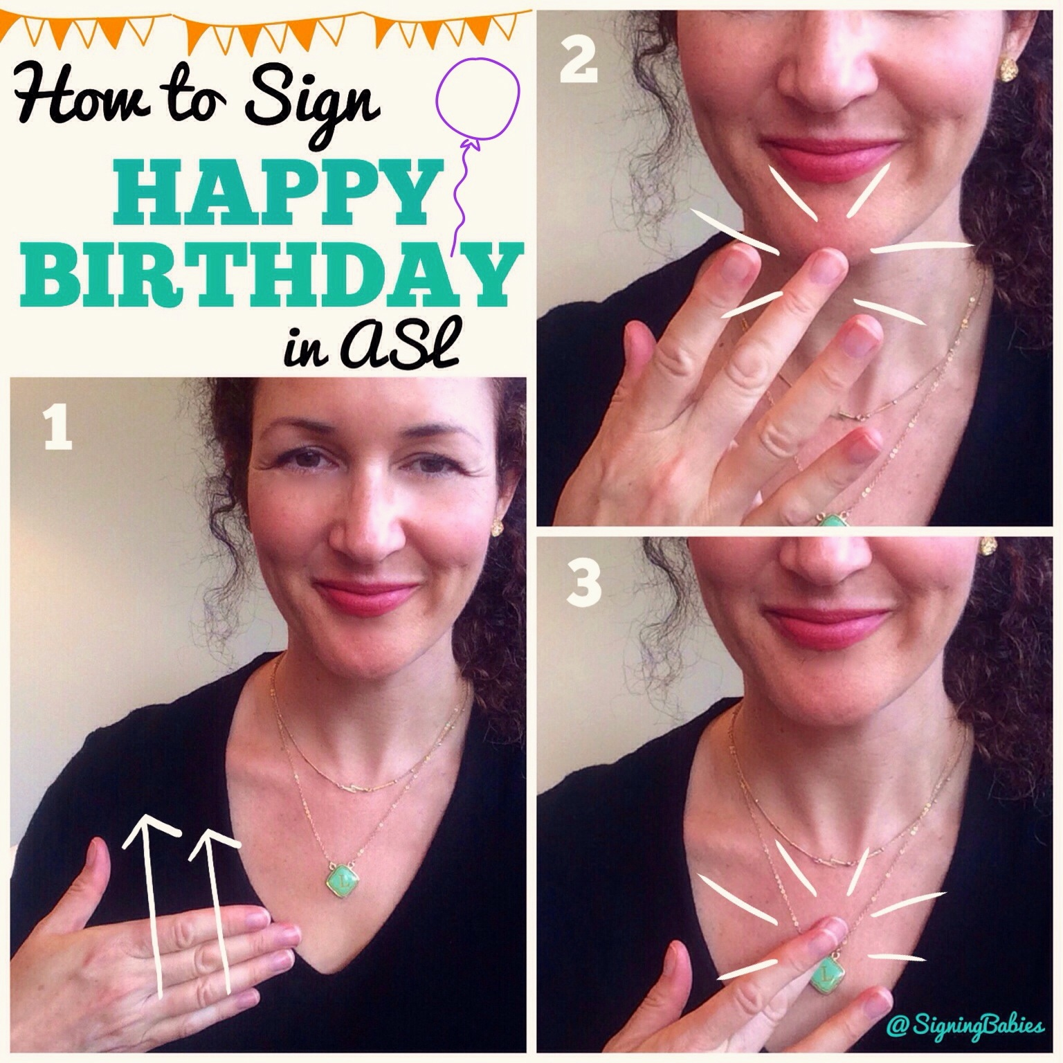 How To Sign Happy Birthday Growing Signs