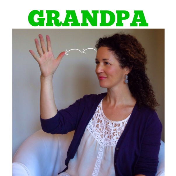 GRANDPA in American Sign Language by signingbabies.ca