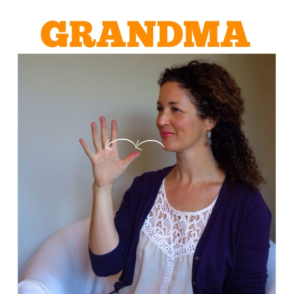 GRANDMA in American Sign Language by signingbabies.ca