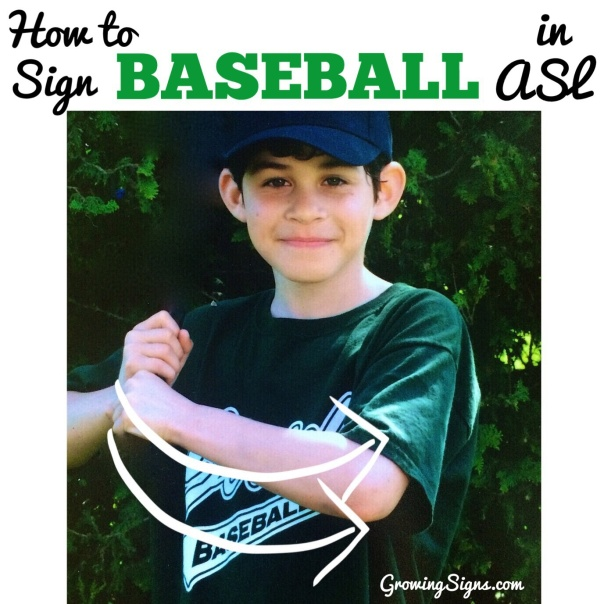 How to Sign BASEBALL in ASL. www.growingsigns.com