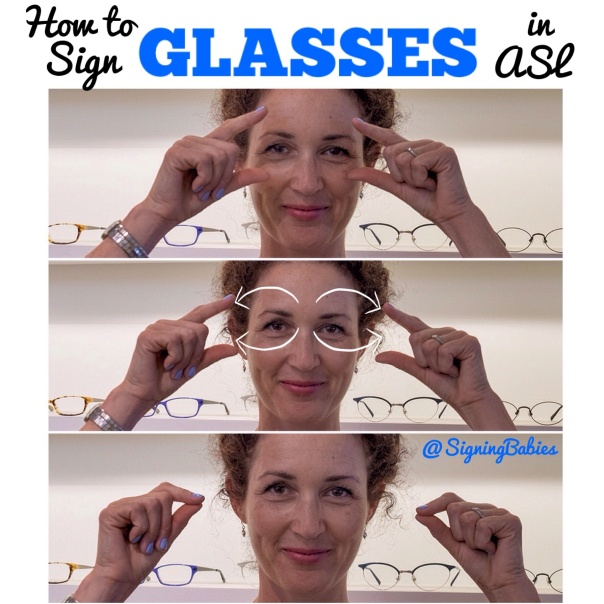 How to sign GLASSES in ASL www.growingsigns.com