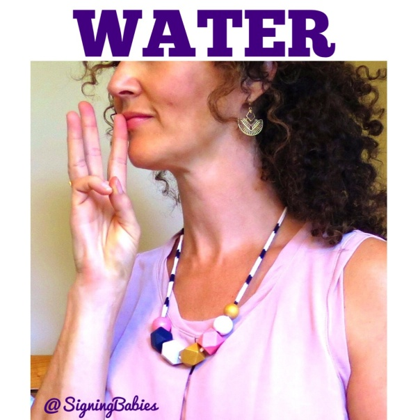 How to sign WATER in American Sign Language