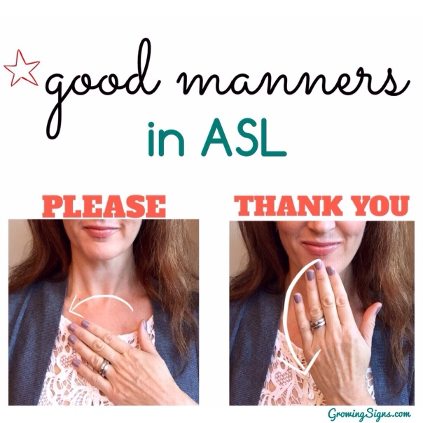 how to say you re welcome in asl