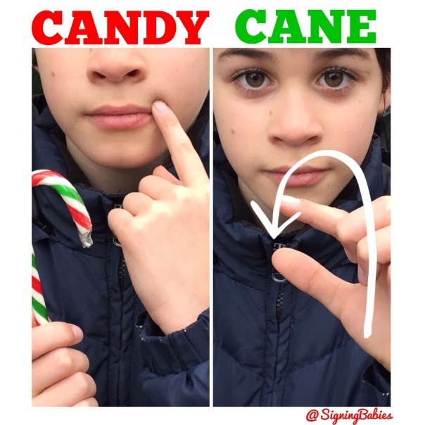 How to Sign CANDY CANE in American Sign Language www.growingsigns.com